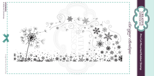 Designer Boutique Collection A Wish At Christmas DL Pre Cut Rubber Stamp