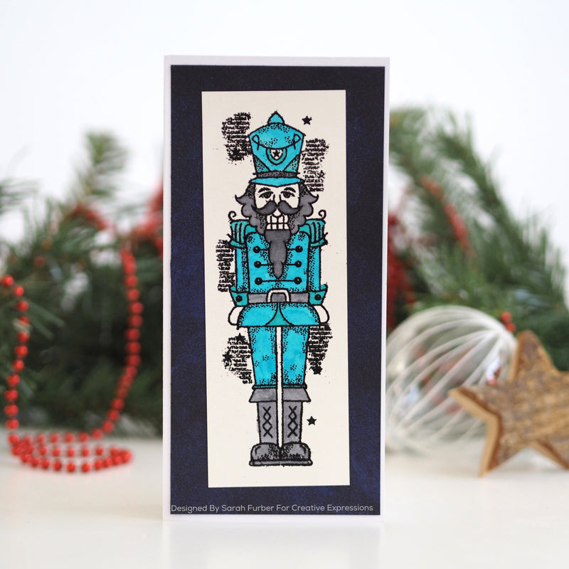 Woodware Clear Singles Nutcracker 4 in x 6 in Stamp