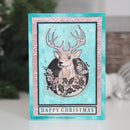 Woodware Clear Singles Circle Deer 4 in x 6 in Stamp