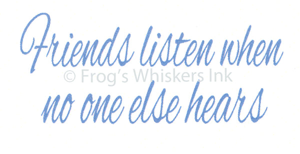 Frog's  Whiskers Stamps - Friends Listen