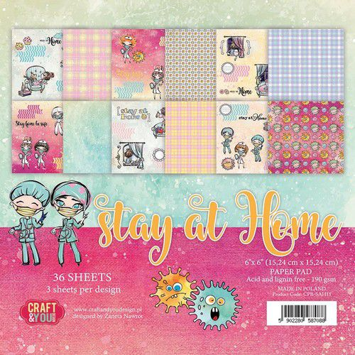 Craft & You Design Stay at Home 6x6 Paper Pad