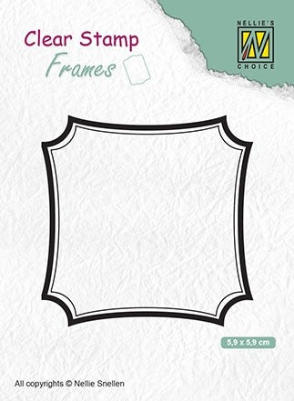 Clear Stamp Frame Square 2.5 x 2.5 inches
