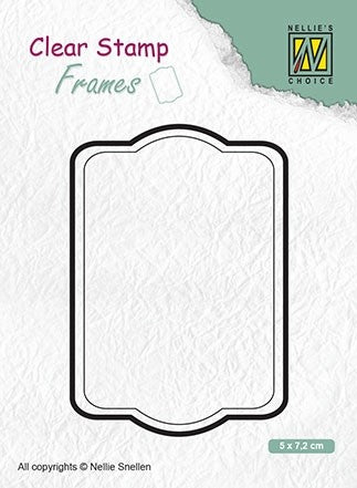 Clear Stamp Frame Rectangle 2 x 3 inches