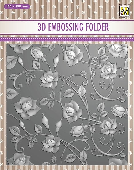 Nellie Embossing 3D Folder - Roses