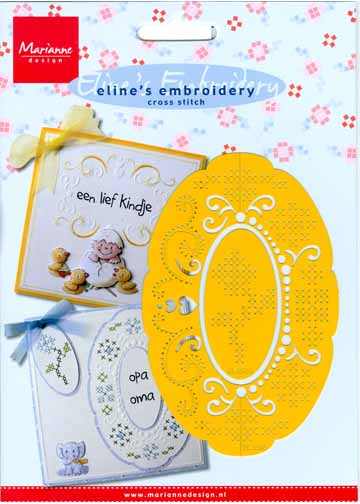Eline Embroidery Stencil - Oval