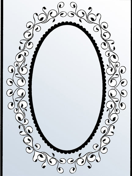 Embossing Folders - Oval Frame 1