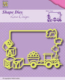 Shape Dies Lene Design -Baby Train