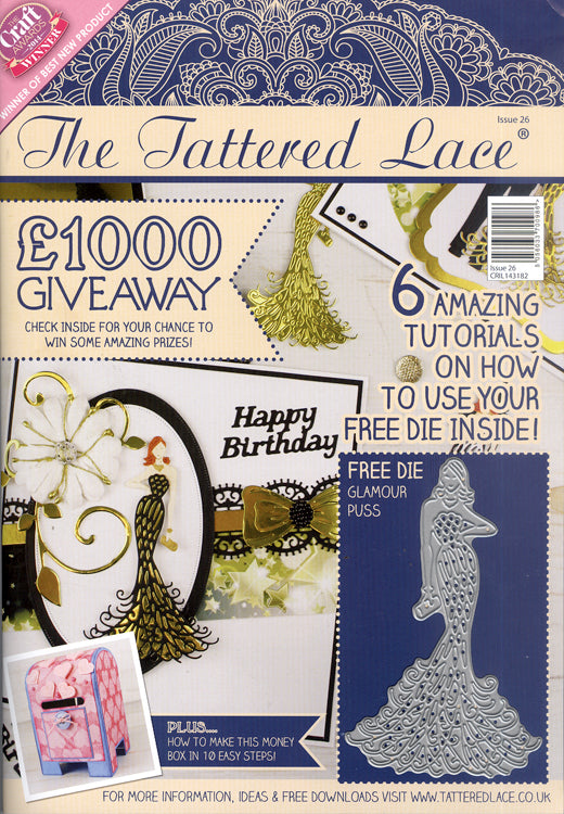 Tattered Lace Magazine #26 (includes Free Die)