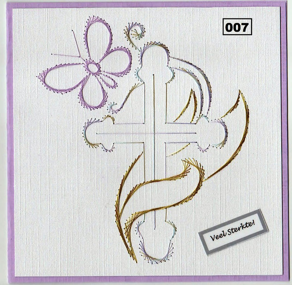 Laura's Design Digital Embroidery Pattern - Cross & Butterfly