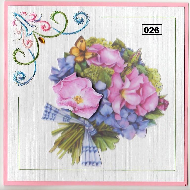Laura's Design Digital Embroidery Pattern - Floral Corner