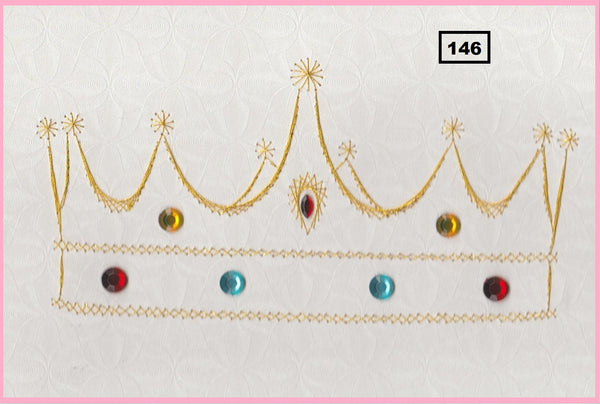 Laura's Design Digital Embroidery Pattern - Crown