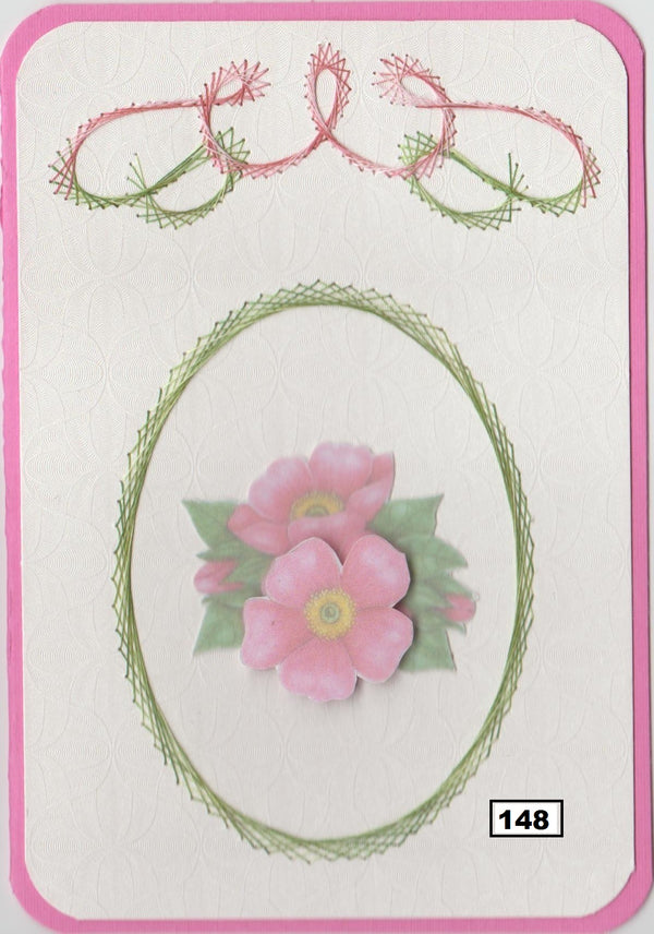 Laura's Design Digital Embroidery Pattern - Oval Frame & Flourish