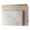 Romak 12 Card & Envelope Pack - Pink/Yellow/Purple