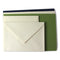 Romak 12 Card & Envelope Pack - Ivory/Navy/Green