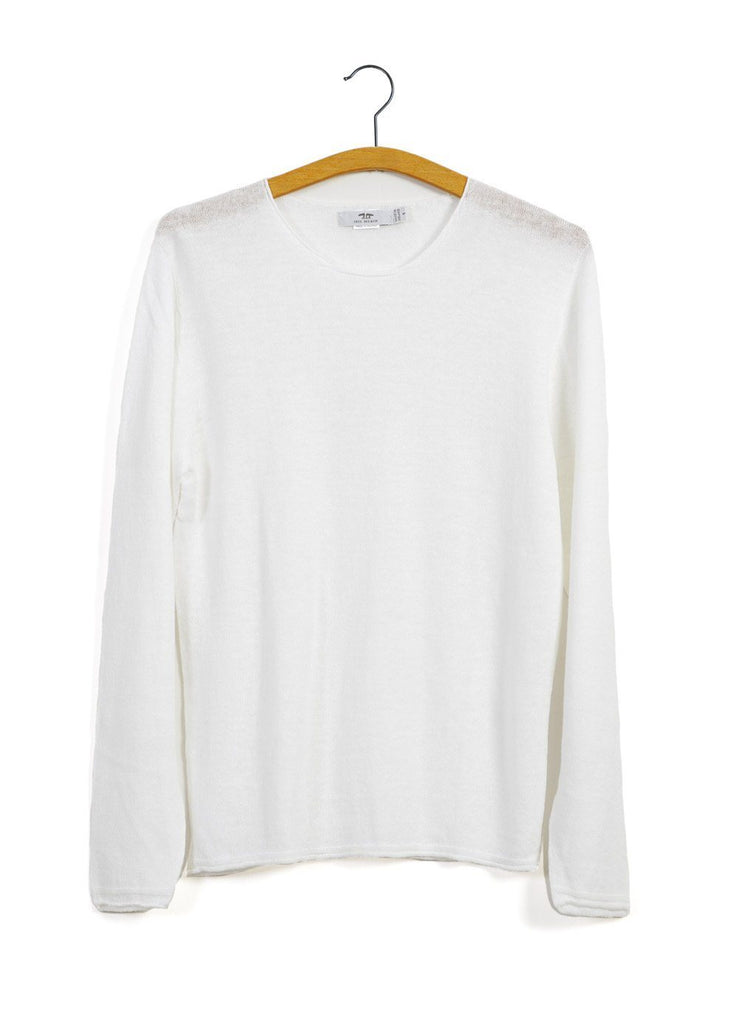 12G ROLL TRIM | Crew Neck Knit | Off White | €230 -Inis Meáin- HANSEN Garments