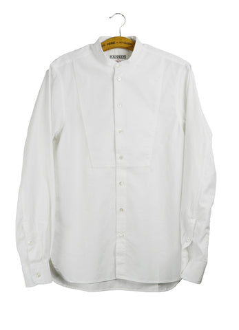 VALMAR | Collarless Bib Shirt | White | €185