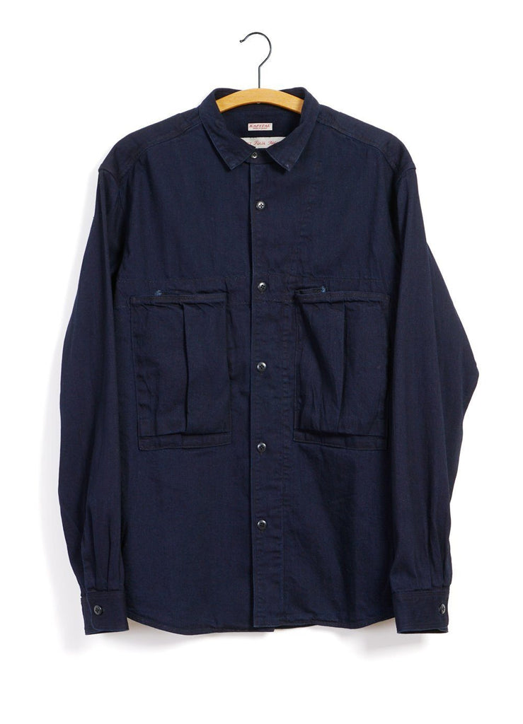 Kapital - 8oz IDGxIDG ANORAK | Denim Shirt | Indigo - HANSEN Garments