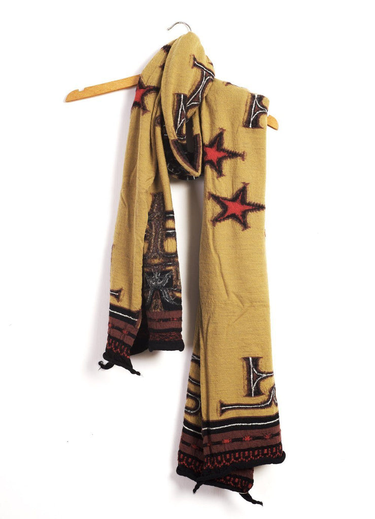 AINU x BETSY ROSS | Felted Wool Scarf | Gold | €249 -Kapital- HANSEN Garments
