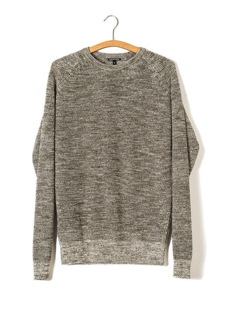 ALFRED | Knitted Basic Crewneck | Army Mouline | €175 -HANSEN Garments- HANSEN Garments