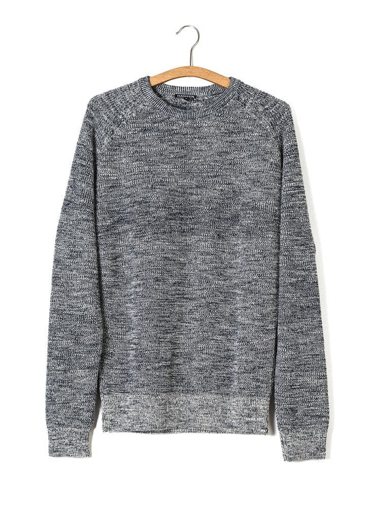 ALFRED | Knitted Basic Crewneck | Blue Mouline | €175 -HANSEN Garments- HANSEN Garments
