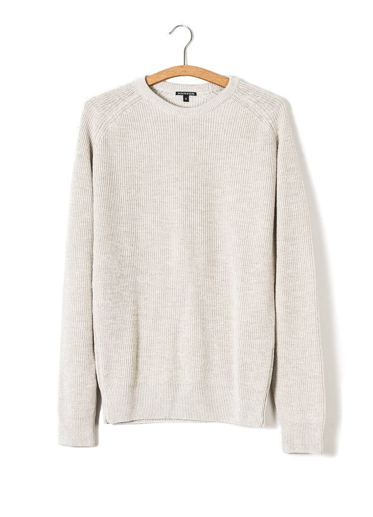 ALFRED | Knitted Basic Crewneck | Nature | €175 -HANSEN Garments- HANSEN Garments