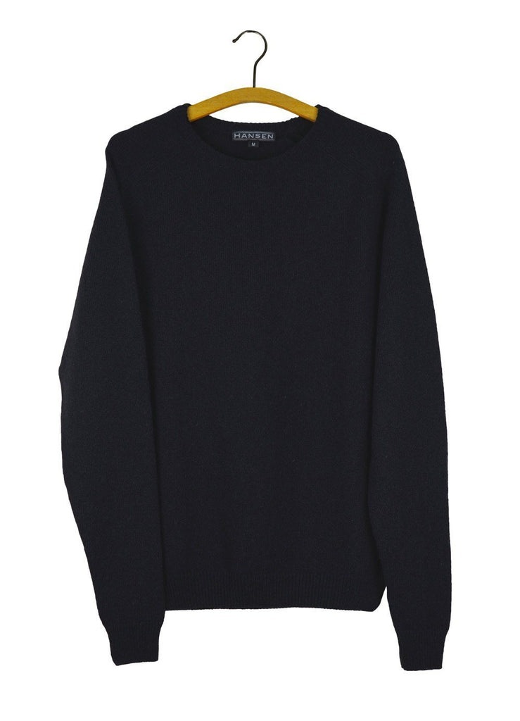 HANSEN Garments - ALLAN | Knitted Crewneck Sweater | Black - HANSEN Garments
