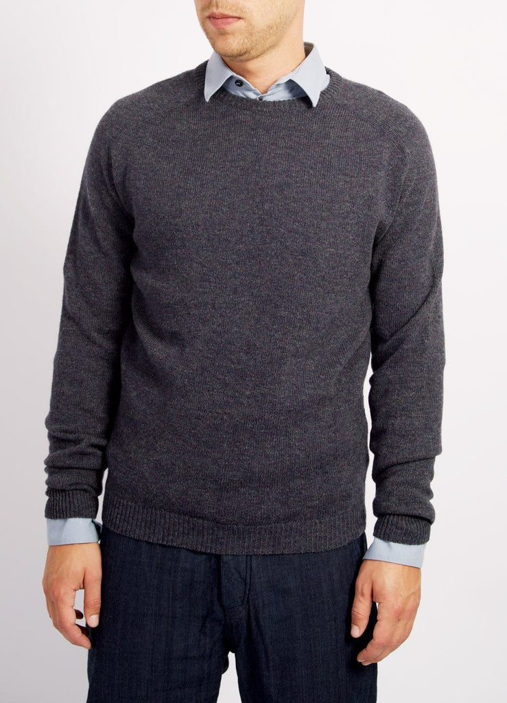 HANSEN Garments - ALLAN | Knitted Crewneck Sweater | Blue Grey - HANSEN Garments