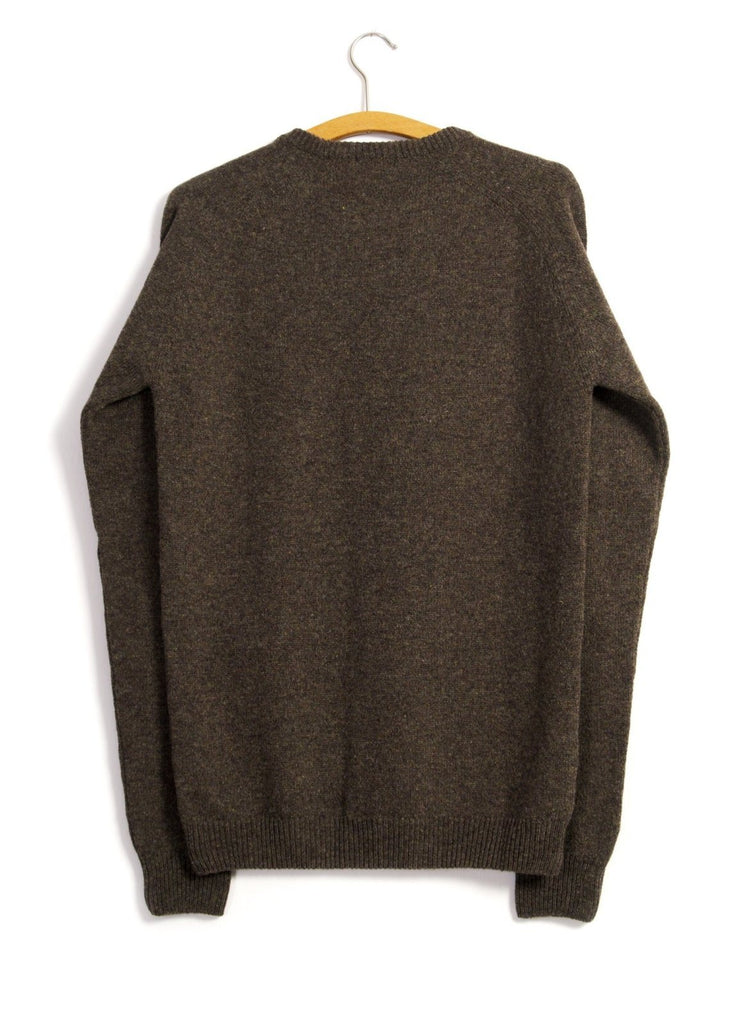 HANSEN Garments - ALLAN | Single Stitch Crewneck Sweater | Oak - HANSEN Garments
