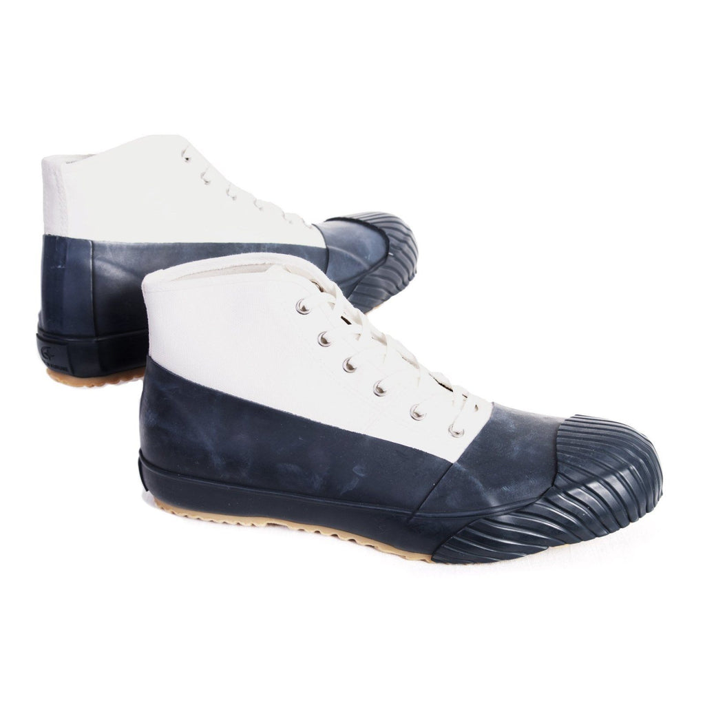 ALLWEATHER | Vulcanised Sole Sneaker Boot | Navy White | €250 -Moon Star- HANSEN Garments