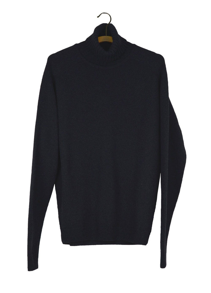 HANSEN Garments - ALVIN | Knitted Turtleneck | Black - HANSEN Garments