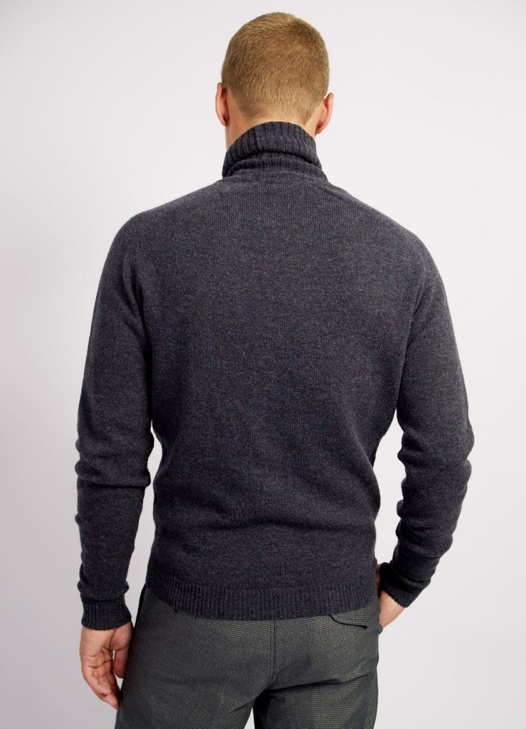 HANSEN Garments - ALVIN | Knitted Turtleneck | Blue Grey - HANSEN Garments
