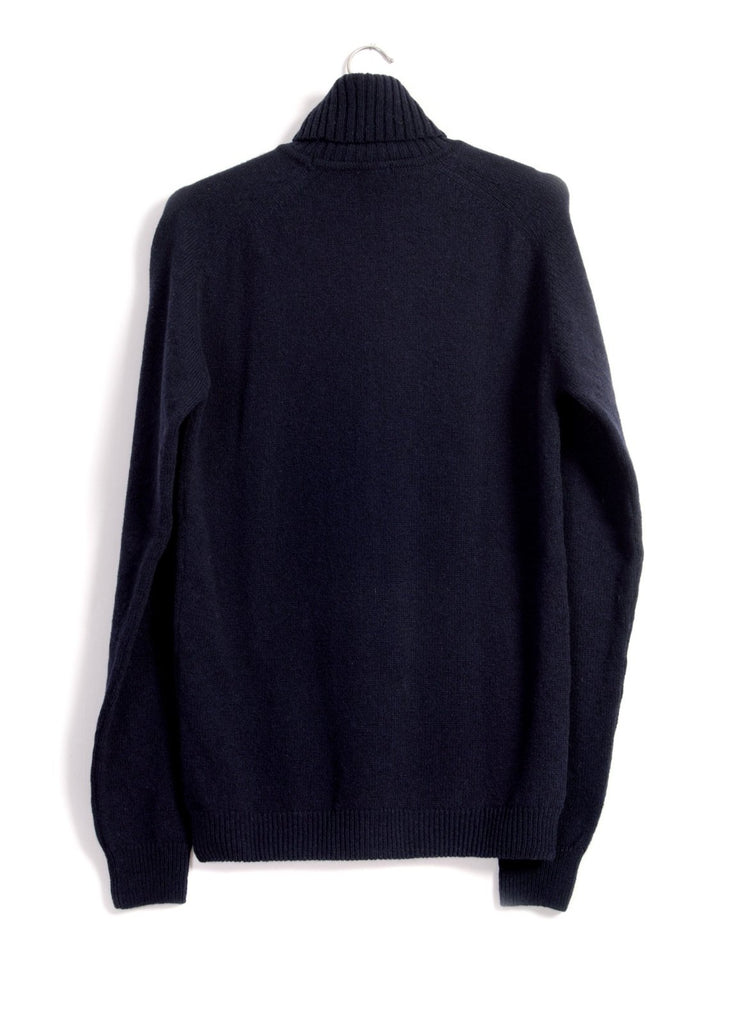 HANSEN Garments - ALVIN | Single Stitch Turtleneck Sweater | Navy - HANSEN Garments