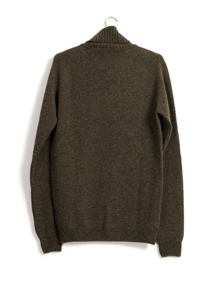HANSEN Garments - ALVIN | Single Stitch Turtleneck Sweater | Oak - HANSEN Garments