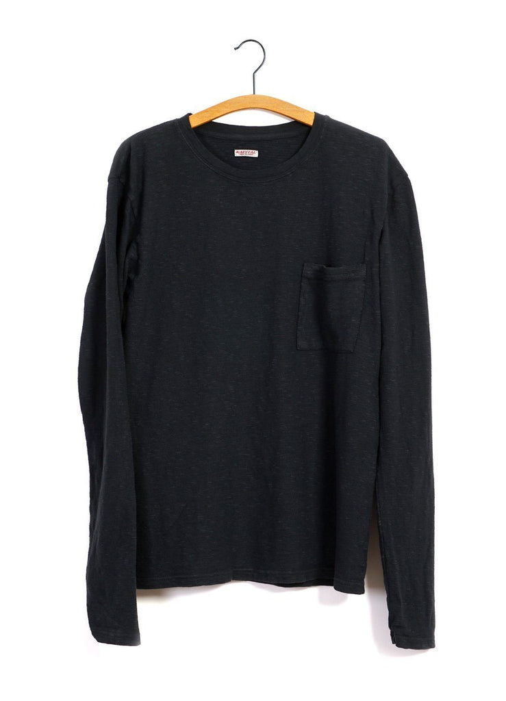 Kapital - AMUSE | Long Sleeve Pocket T | Black - HANSEN Garments