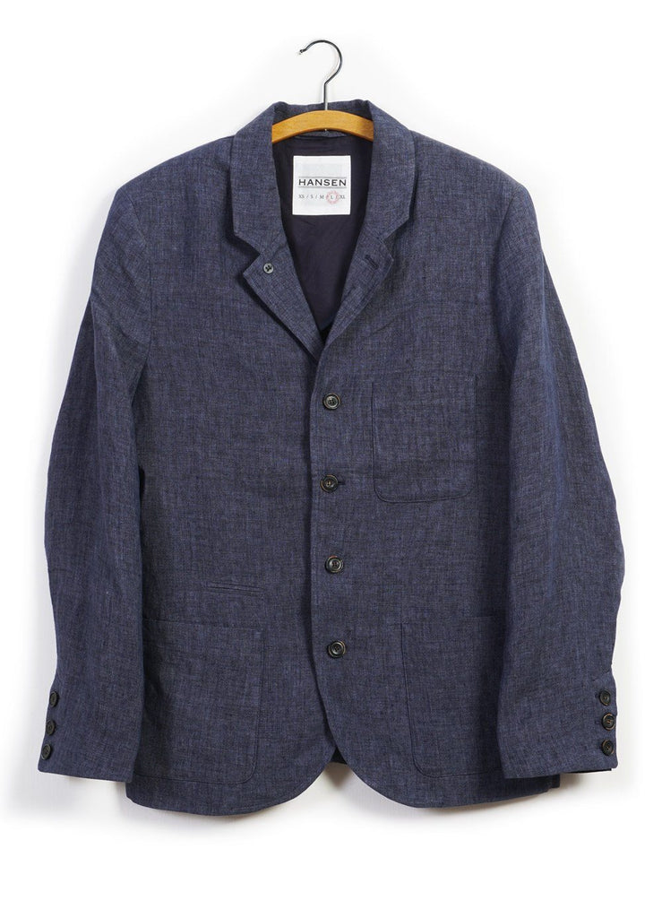 ANKER | Casual Five Button Blazer | Blue Delave | €430 -HANSEN Garments- HANSEN Garments