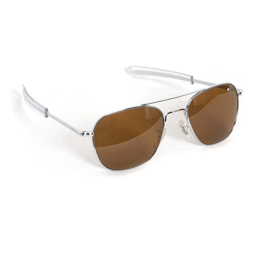 ACCESSORIES - AO EYEWEAR | Original Pilot Sunglasses I Silver Brown - HANSEN Garments