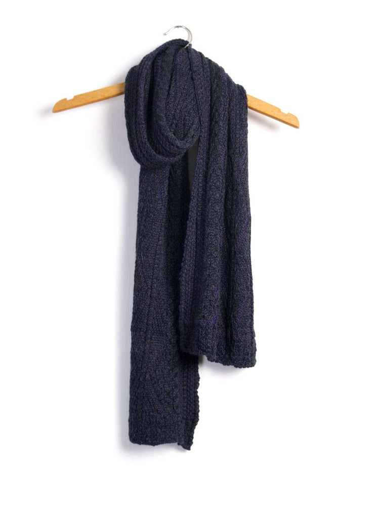 ARAN | Knitted Scarf | Purple | €125 -Inis Meáin- HANSEN Garments