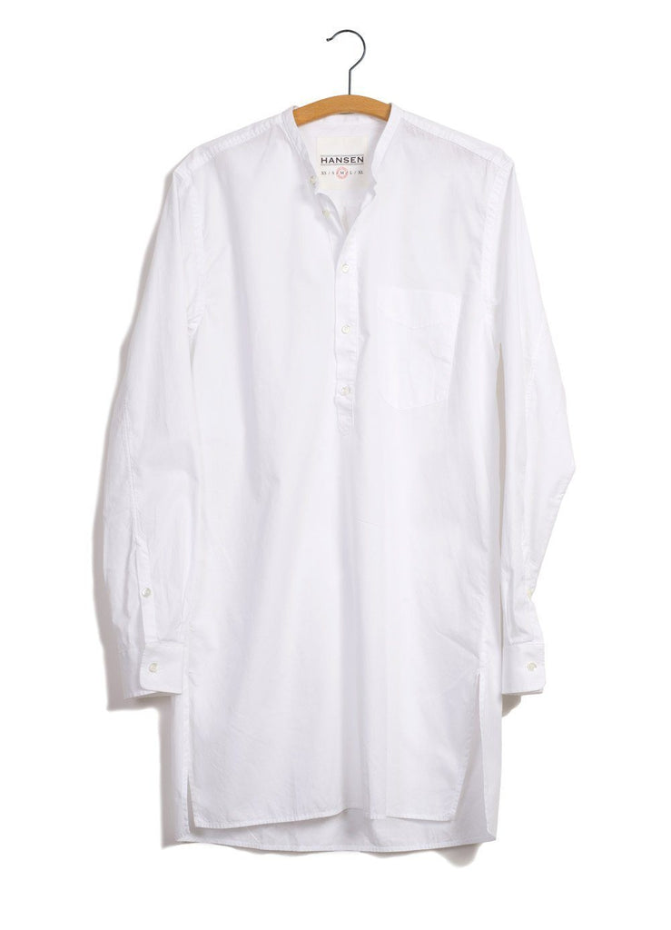 ARILD | Collarless Pull-on shirt | White | €175 -HANSEN Garments- HANSEN Garments