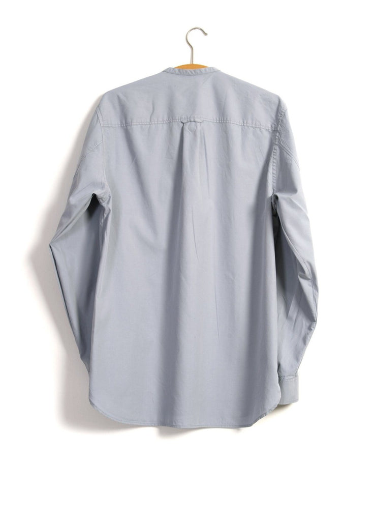 ARTHUR | Collarless Pull-on Shirt | Rain | €150 -HANSEN Garments- HANSEN Garments