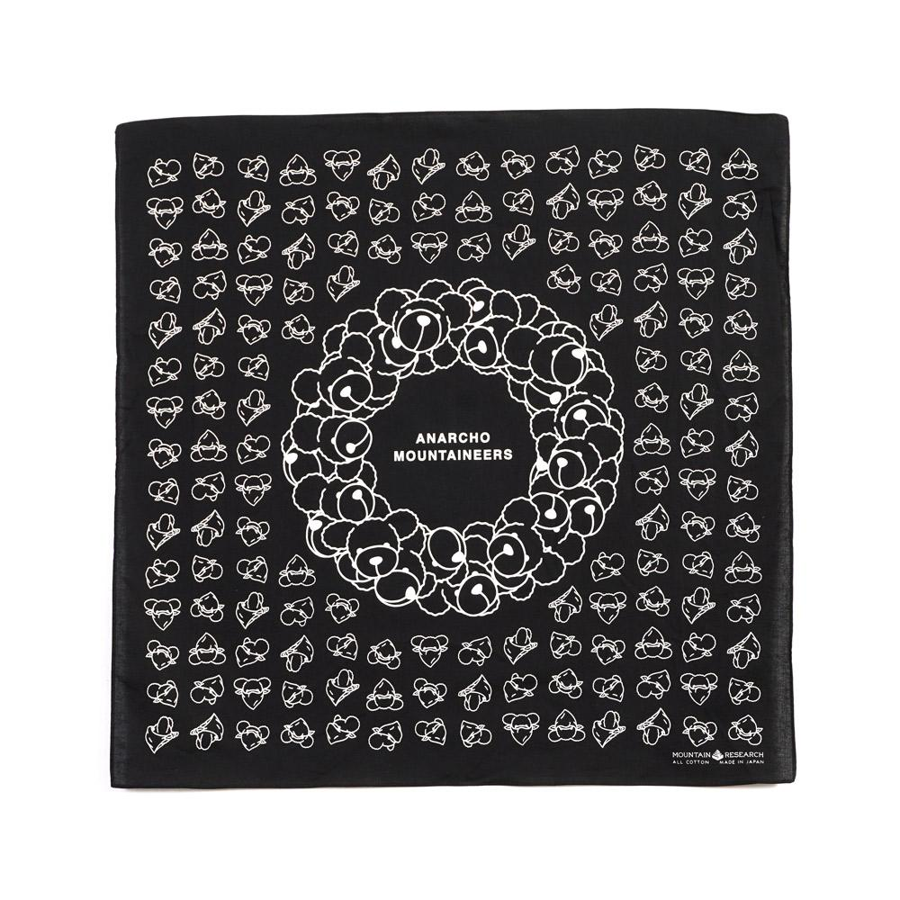 BANDANA | Printed Cotton Bandana | Black & White | €40 -MOUNTAIN RESEARCH- HANSEN Garments