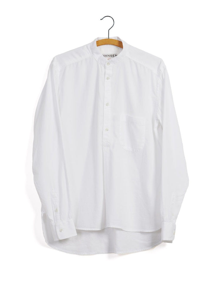 BASTIAN | Casual Pull On Shirt | White -HANSEN Garments- HANSEN Garments