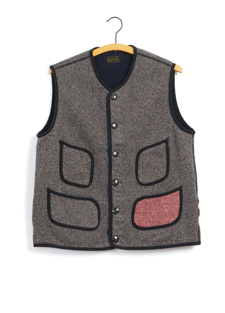 BEACH KNIT | Vest | Charcoal | €310 -Kapital- HANSEN Garments
