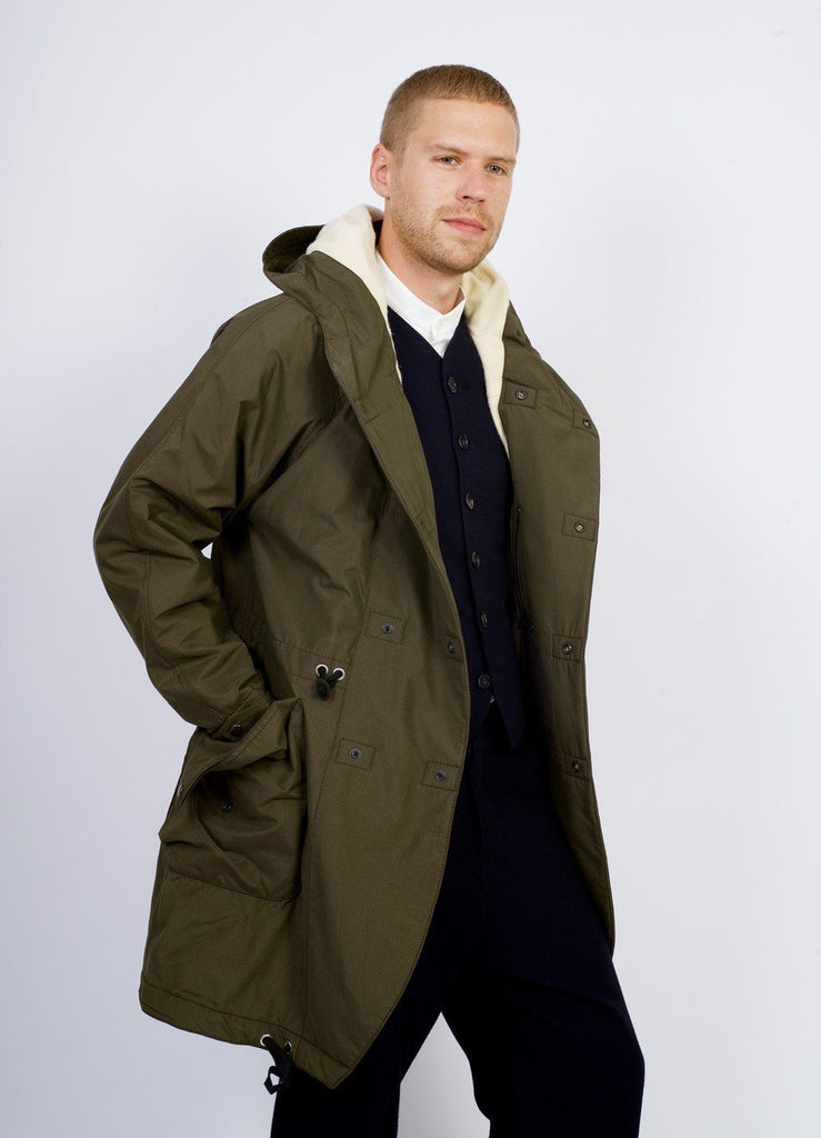 BJARNE | Hooded Wool Lined Coat | Tech Army | €625 -HANSEN Garments- HANSEN Garments