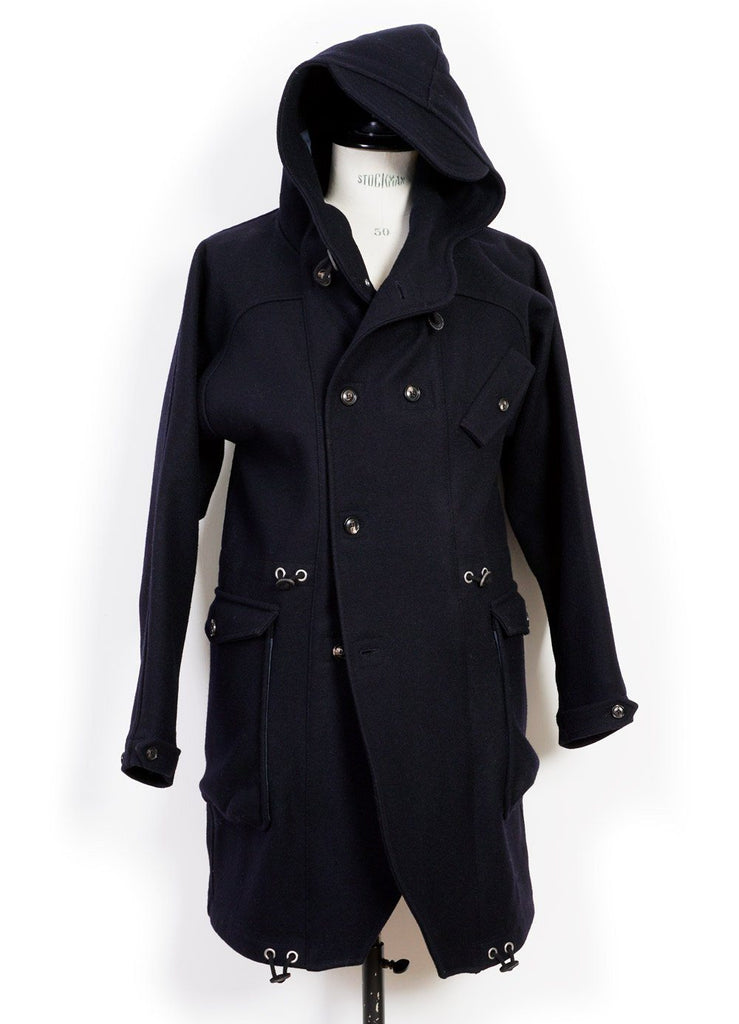 HANSEN Garments - BJARNE | Long Wool Felt Parka | Classic Navy - HANSEN Garments