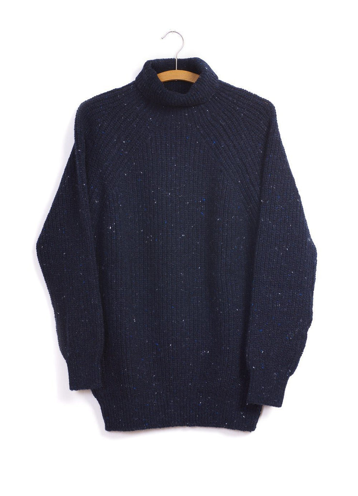 BOATBUILDER | Rib Knit Turtleneck Sweater | Navy | €390 -Inis Meáin- HANSEN Garments