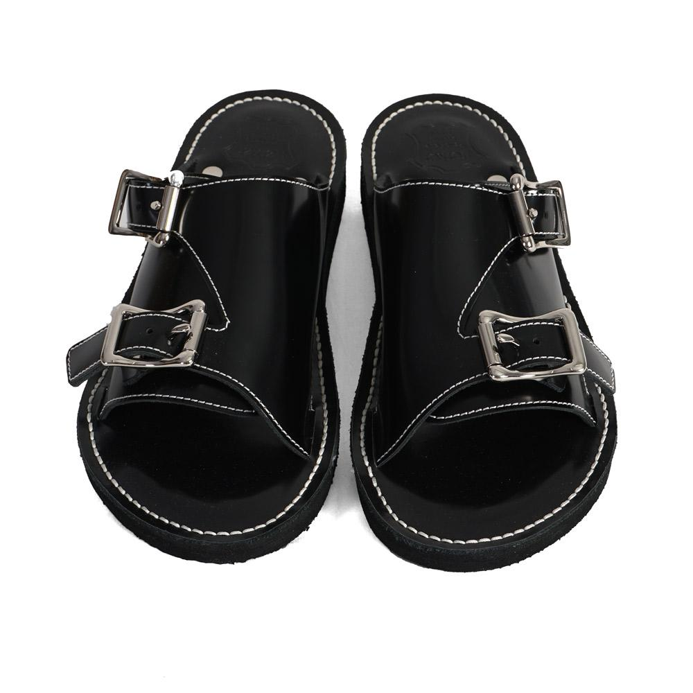 CALF LEATHER SANDAL | Buckle Sandal | Black | 225€ -FERKER- HANSEN Garments