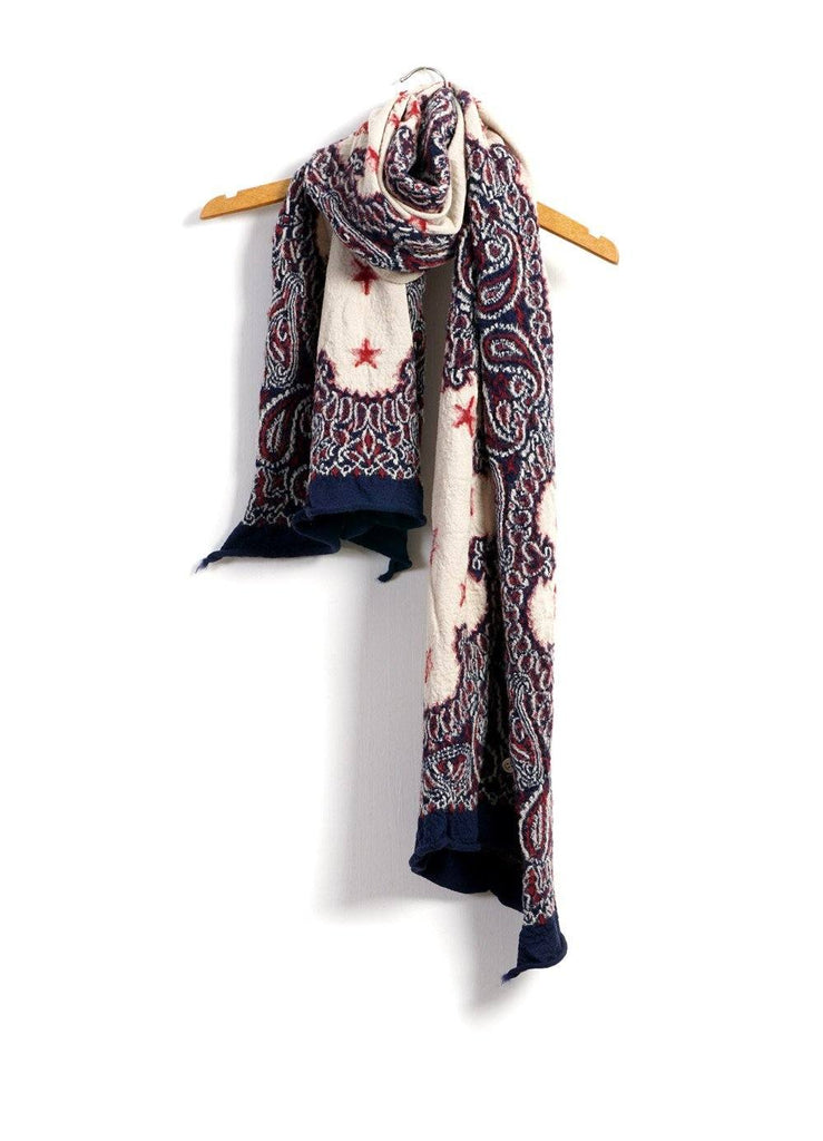 COSMIC STAR | Compressed Wool Scarf | Navy | €260 -Kapital- HANSEN Garments