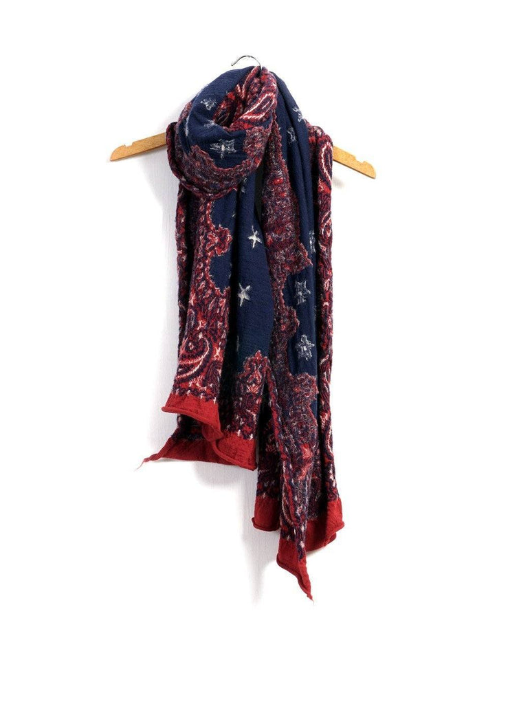 COSMIC STAR | Compressed Wool Scarf | Red | €260 -Kapital- HANSEN Garments