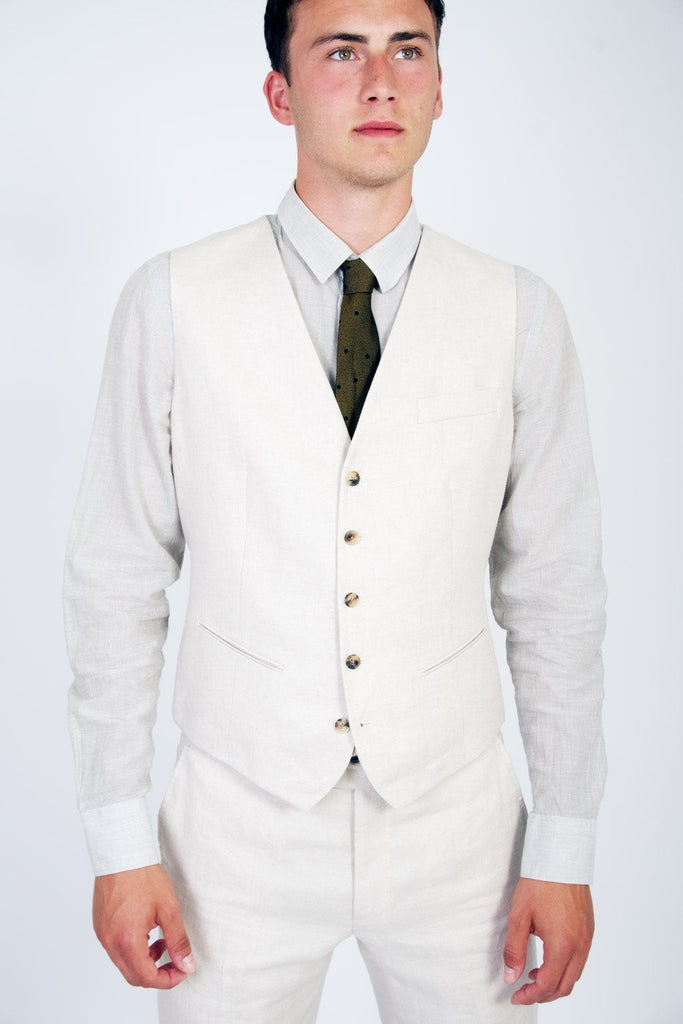 DAN | Formal Suit Waistcoat | Ecru I €240 -HANSEN Garments- HANSEN Garments