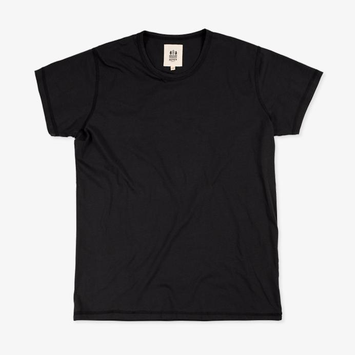 DANI | Short Sleeve T-shirt | Black | €55 -HEMEN BIARRITZ- HANSEN Garments